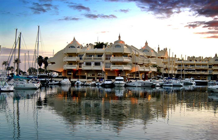 Image of boats moored in Puerto Marina (Benalmadena)