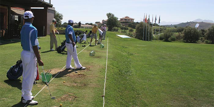 Area of practices in Hotel Antequera Golf