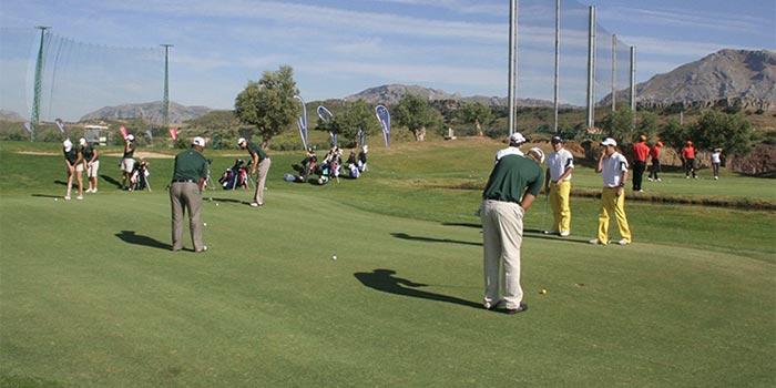 Area di apprendimento del golf a Antequera Golf