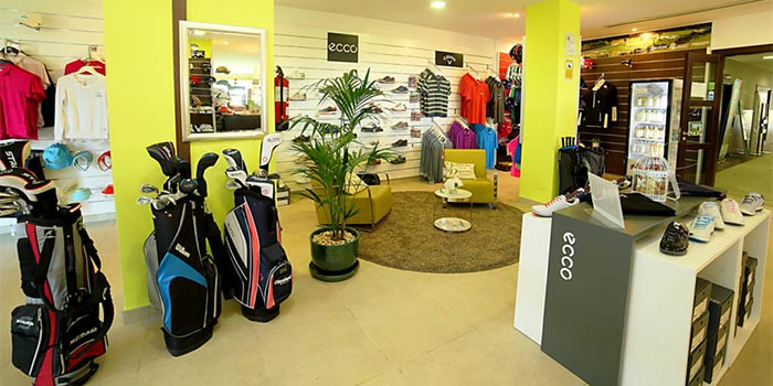 Interior of the store within Baviera Golf