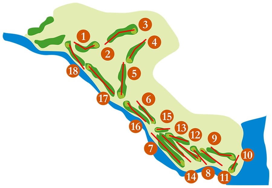 Map of the south course of Guadalmina Golf