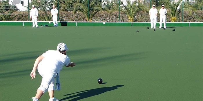 Lawn Bowls match in Lauro Golf