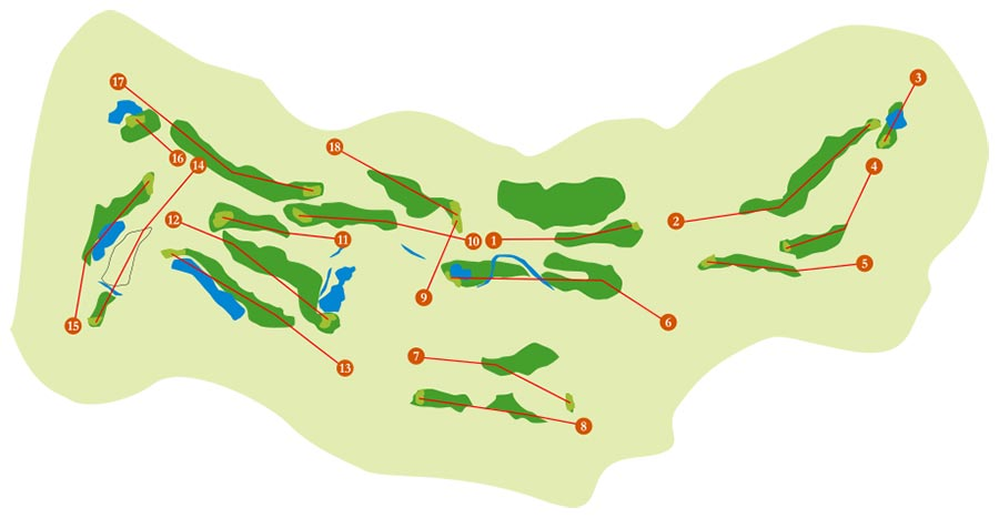 Plane-hole course in Marbella Golf Country Club