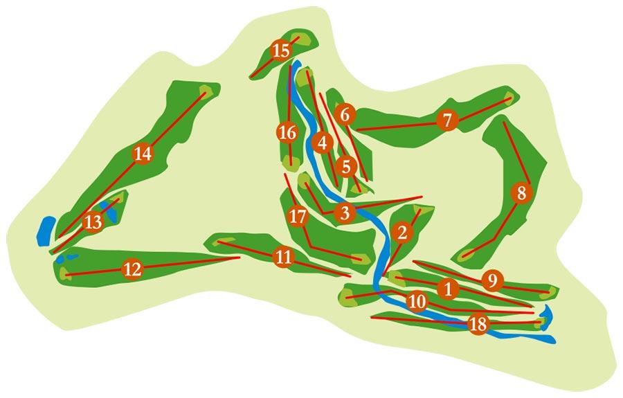 Plan-loch-golfplatz Santa Clara Golf Marbella