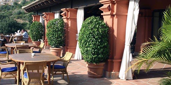 Terrasse, restaurant på Santa Clara Golf Marbella